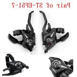 1 Pair Set Shimano ST-EF51-7 MTB Bike Gear 3 x 7 Speed Brake