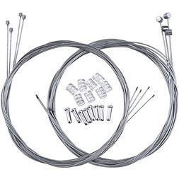 Hotop 2 Set Mountain Bike Brake Cable Gear Cable Wire and Ca