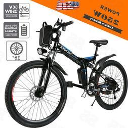 Ancheer 26'' Electric Bicycle Mountain Bike Fat Tire Ebike C