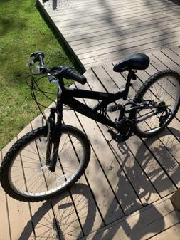"""20"""" Black Mountain Bicycle with Shock Absorbers and 6 Spee"""