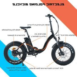 "20"" Folding Electric Mountain Bike 500W Bicycle Fat Tire Ebi"