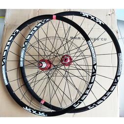 "26"" 27.5"" 29"" QR/Thru Wheel Carbon Hub MTB Bike Wheelset Set"