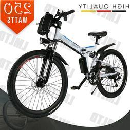 """26"""" EBike Folding Bicycle Electric Bike Mountain Bike 36V 25"""