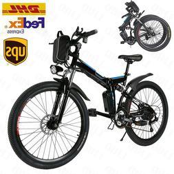 26''Folding Electric Mountain Bike,8Ah Li-Battery+ 21Speed S