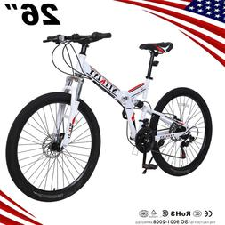 "26"" Mountain Bike Full Suspension 21Speed Shimano Dual Disc"