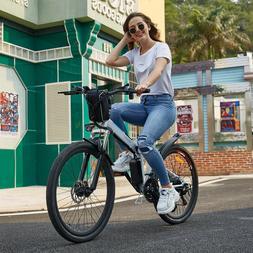 26'' Electric Bike Folding Mountain Bike Adult E-Bike Shiman