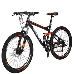 26in  Full Suspension Mountain Bike Shimano 21 Speed Mens Bikes Update Bicycle M