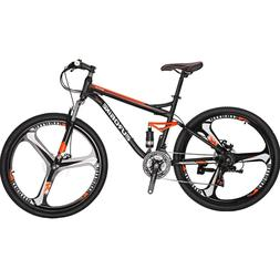 "27.5"" Full Suspension Mountain Bike 21 Speed Mens Bicycle Di"