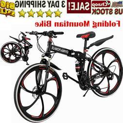 """27.5"""" Full Suspension Mountain Bike Shimano 21 Speed Men's B"""