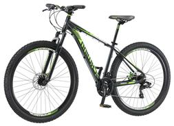 "29"" Men's Schwinn Boundary Mountain Bike, Black/Green IN HAN"