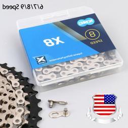 KMC 6/7/8/9 Speed 116Links Chain MTB Bike Cassette Sprocket