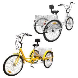 """Shimano 7-Speed Adult 24"""" 3-Wheel Tricycle Trike Bicycle Cru"""