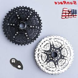 SunRace 9 Speed 11-40T Cassette & Adapter Alloy MTB Bike Shi