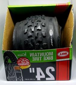 "Bell TRACTION Mountain BIKE Tire 24"" Black KEVLAR DUPONT"