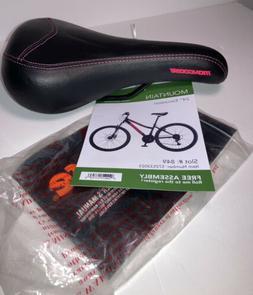 Mongoose Black & Red Bicycle Seat / Saddle Bike Parts New