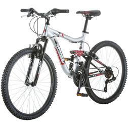 "Boys Mountain Bike 24"" Aluminum Frame Bicycle Shimano Full S"