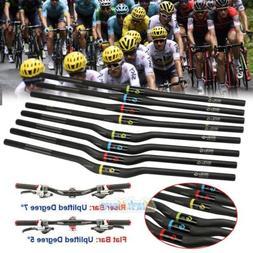 Carbon Fiber Mountain Cycling Bicycle Riser/Flat Bar Bike Ha