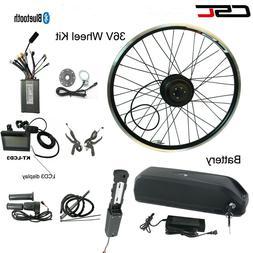 E Bike Mountain Bike Conversion Motor Wheel Kit 36V 500W Wit