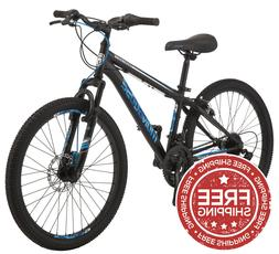 Mongoose Excursion Boys Mountain Bike 24-inch 21 Speed Black