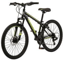 Mongoose Excursion Mountain Bike 24-inch wheel 21 speeds bla