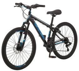 """24"""" Mongoose Excursion Boys Mountain Bike 21 Speed Twist Shi"""
