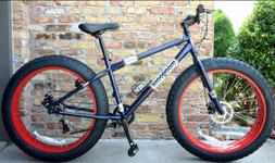 "Fat Tire Mountain Bike Bicycle 17"" High 7 Speed Shimano Driv"