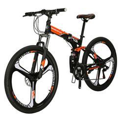 Folding Mountain Bike 21 Speed Full Suspension Disc Brakes M