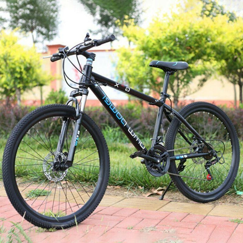 26in Mountain Bike 21 Speed MTB Bicycle Full Suspension Disc
