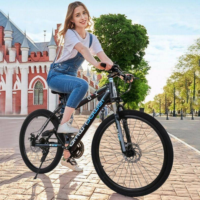 26in Mountain 21 Speed Bicycle Full Suspension Disc Bike