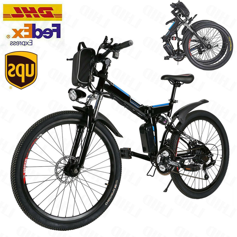 26 folding electric mountain bike 8ah li