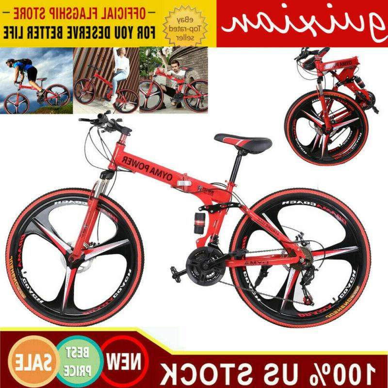 26 folding mountain bike shimano 21 speed