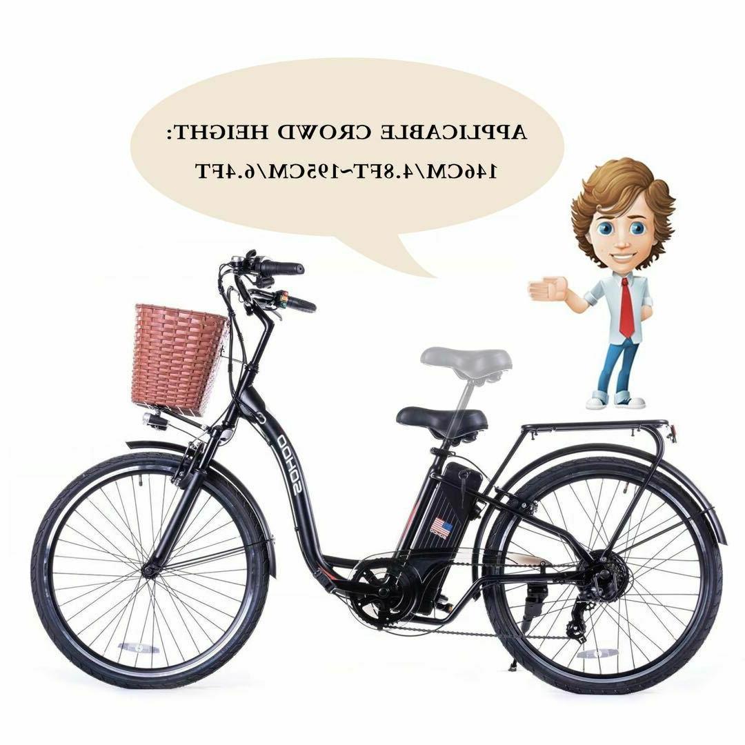 "SOHOO 36V350W10AH 26"" Electric Bicycle City E-Bike Mountai"