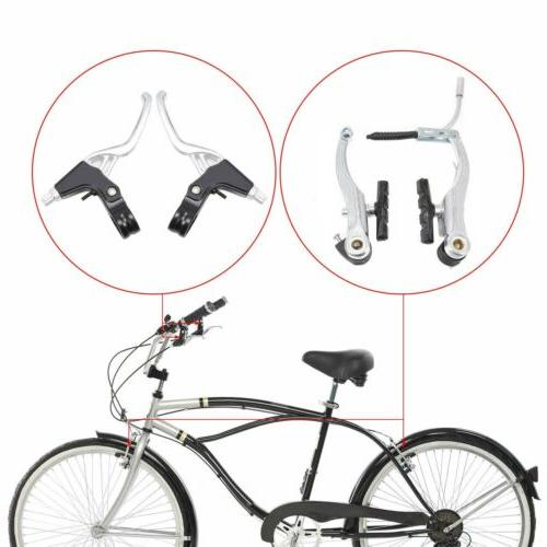 Alloy Brakes Cables Caliper Set For Bicycle USA