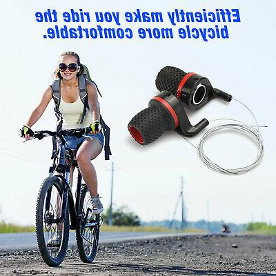 Bicycle Bike Handlebar Twist Handle Gear Shifter Set
