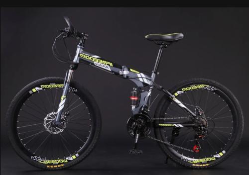 Foldable 21 Speed Mountain Bike Full Suspension Carbon Steel