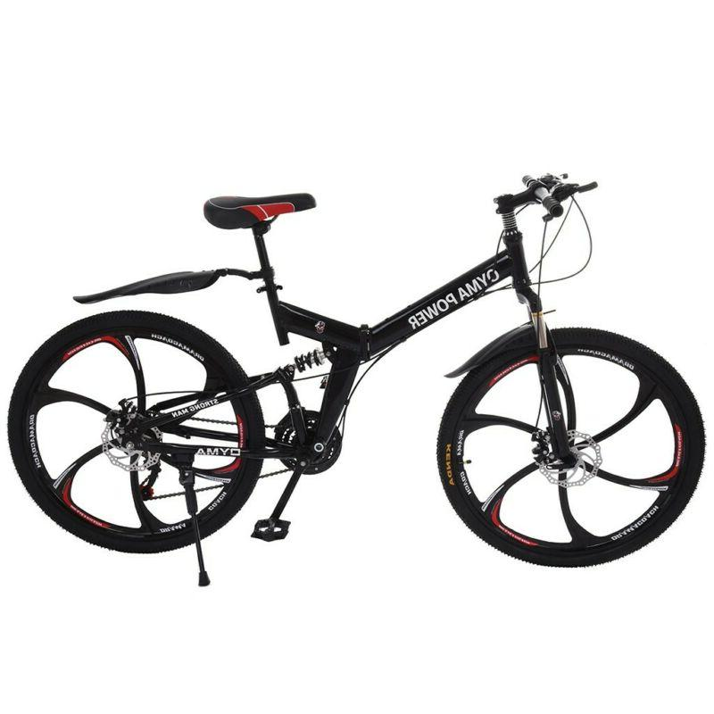 "26"" Folding Bike Shimano 21 Bicycle Full US"