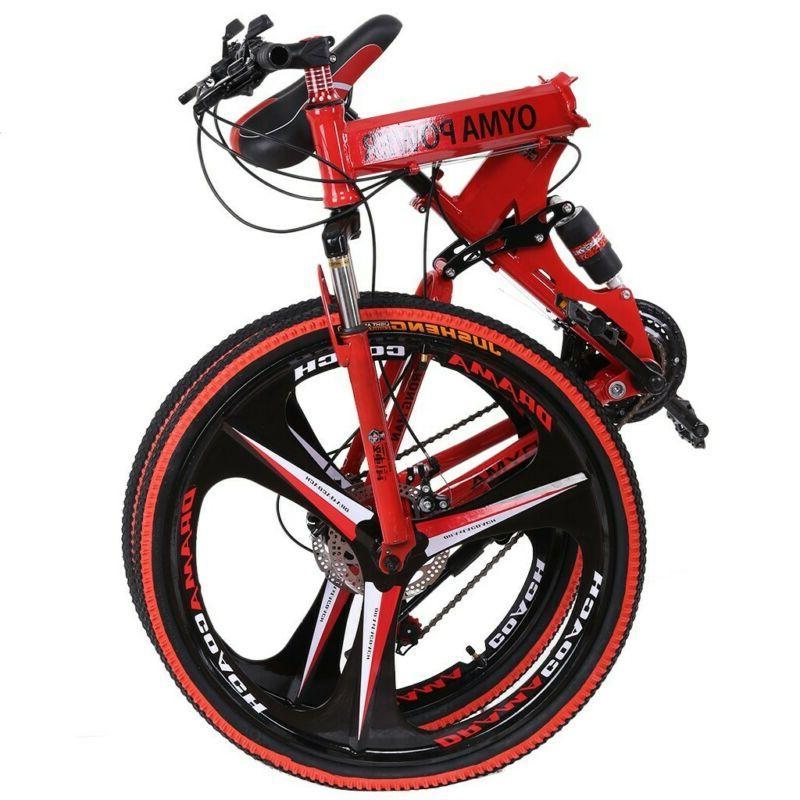 """26"""" Bicycle Mountain Bike Full Suspension 21 Speed Mens Bike"""
