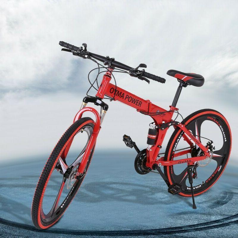 """Full Suspension Mountain Bike 26"""" 21 Speed Bicycle Disc Brak"""