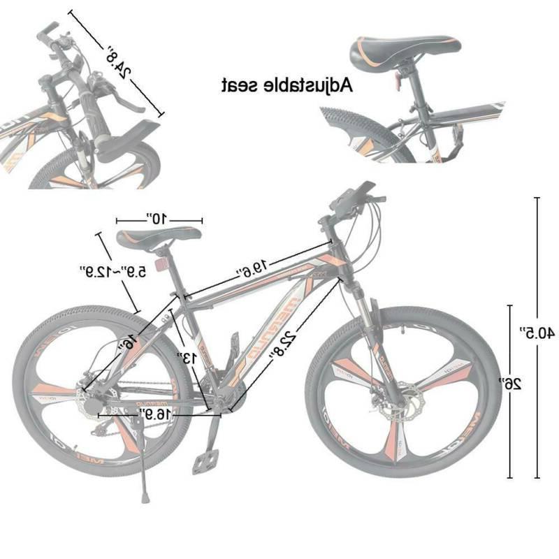 Mountain Bicycle Wheels Bicycle Bikes Orange