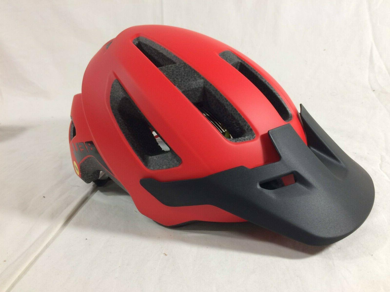 nomad mips mountain bike helmet matte red