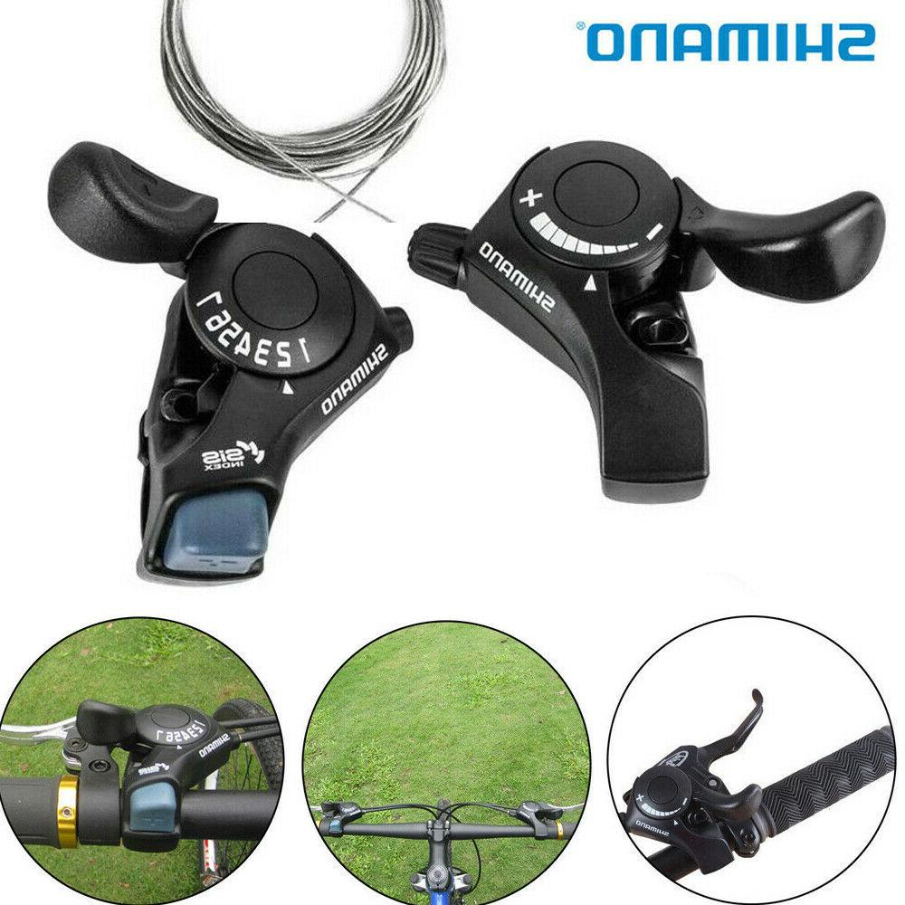 SL-TX30 3//6//7//18//21 Speed MTB Mountain Bike Thumb Gear Shift Lever Set.