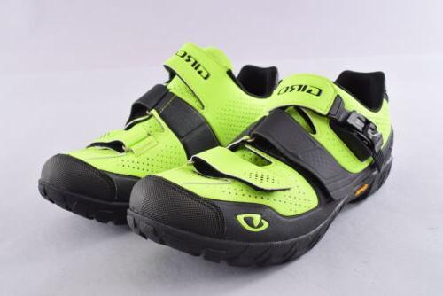 terraduro clipless cycling shoes eu45 lime black