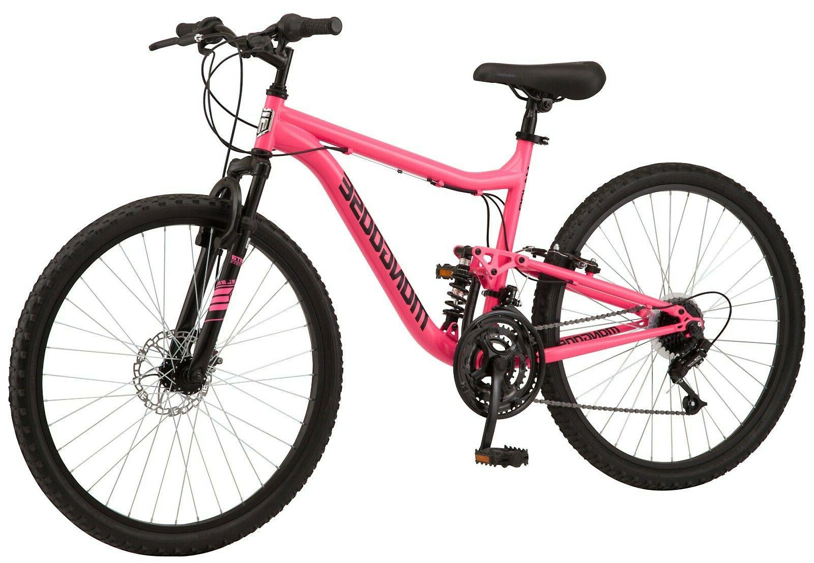 Women's Major Mountain Pro Bike 21-Speed Bicycle, Pink In Hand! Ships Fast!