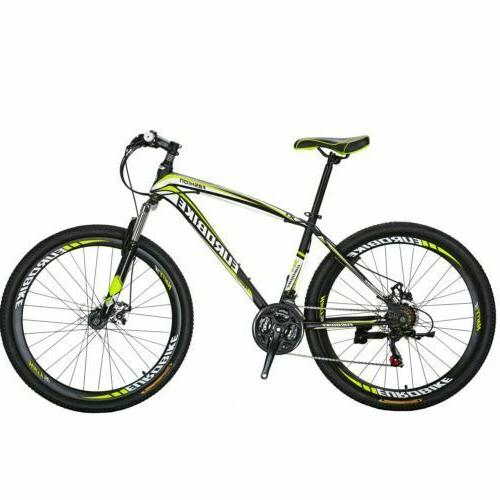 """X1 27.5"""" mountain Bike Shimano 21 Speed Mens Bicycle Front S"""