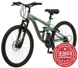 Mongoose Major Boy's Mountain Bike, 24-inch Wheels, 21 Speed