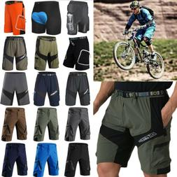 Men Cycling Shorts Padded MTB Mountain Bike Bicycle Loose Fi