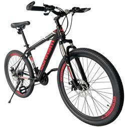 "26"" Mag Wheels Mountain Bike 21 Speed Bicycle Mens Bikes W/A"