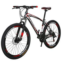 X1 Mountain Bike 27.5 inches Wheels 21 Speed Bicycle MTB Fro