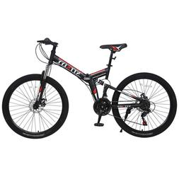 Mountain Bike Full Suspension Shimano 21 Speed Mens Bikes MT