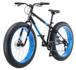 MOUNTAIN BIKE Mens Fat Tire Bicycle 26-Inch Wheels Black Blu